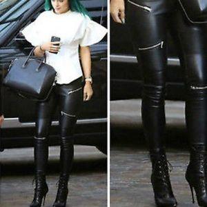 Zara premium collection faux leather pants
